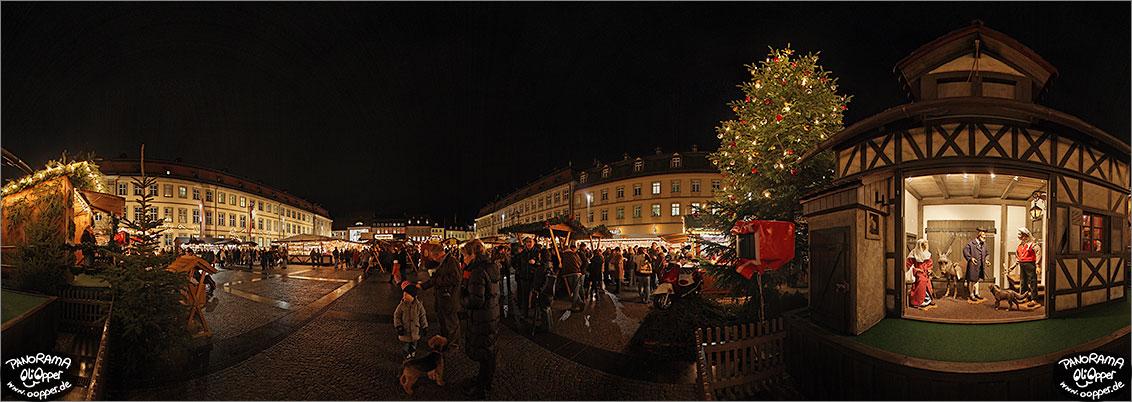 Bamberg Weihnachtsmarkt.Weihnachtsmarkt Bamberg Maxplatz P013
