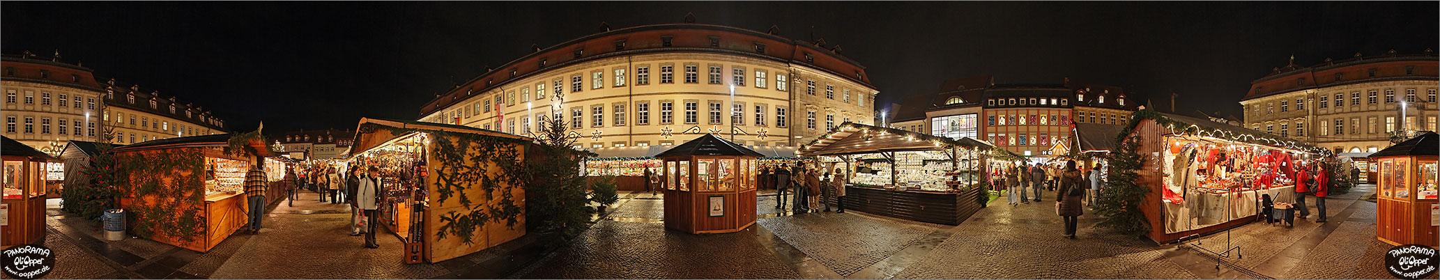 Weihnachtsmarkt Bamberg - Maximiliansplatz - p014 - (c) by Oliver Opper