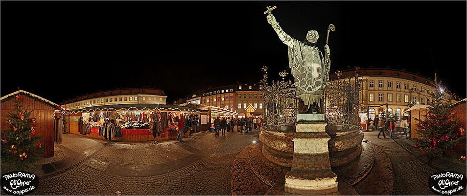 Bamberg Weihnachtsmarkt.Weihnachtsmarkt Bamberg Maxplatz P015