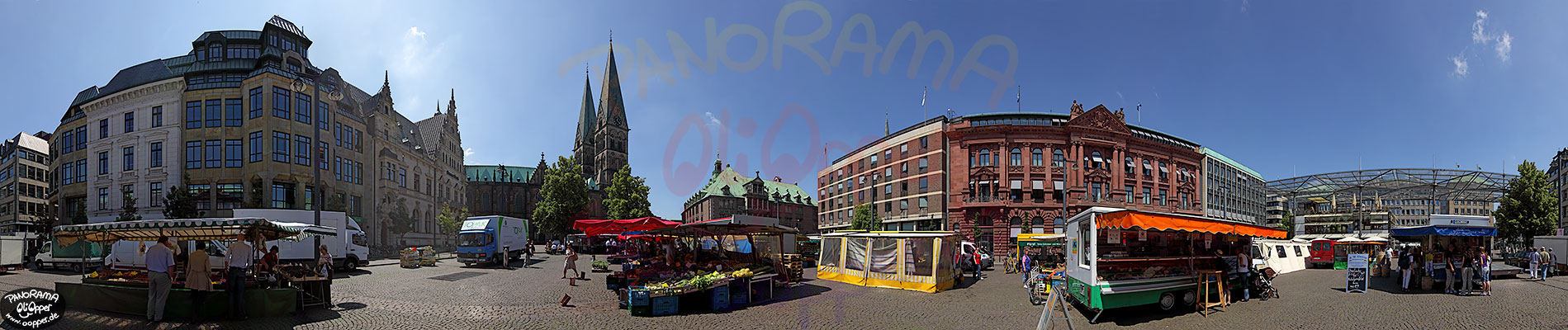 panorama bremen markt auf dem domshof p002. Black Bedroom Furniture Sets. Home Design Ideas