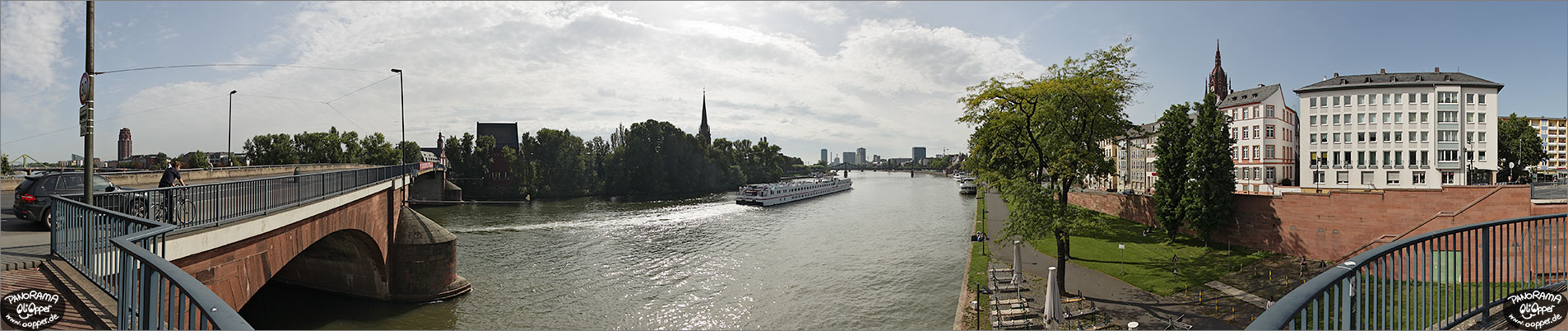Panorama Frankfurt am Main - Alte Br�cke - p1134 - (c) by Oliver Opper