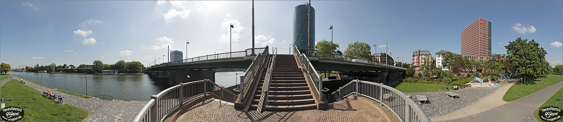 Panorama Frankfurt am Main - Friedensbr�cke - p1118 - (c) by Oliver Opper