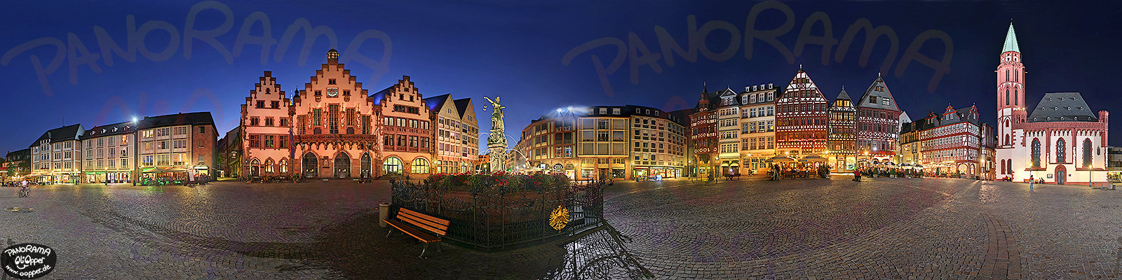 Panorama Frankfurt - R�mer - p075 - (c) by Oliver Opper