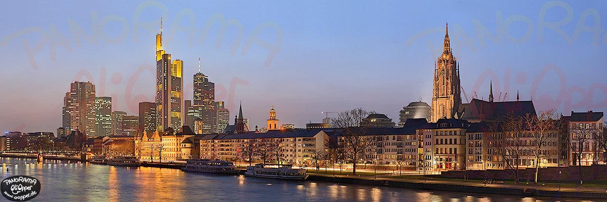 skyline frankfurt innenstadt und dom von der alten br cke aus p168. Black Bedroom Furniture Sets. Home Design Ideas