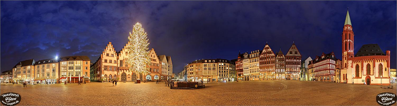 Weihnachtsbaum Frankfurt.Panorama Frankfurt Weihnachtsbaum Auf Dem Römer Römerberg P201
