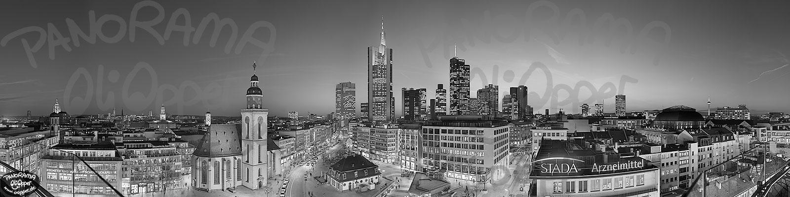 Frankfurt am Main  Blick auf die Sykline von der Zeilgalerie aus in
