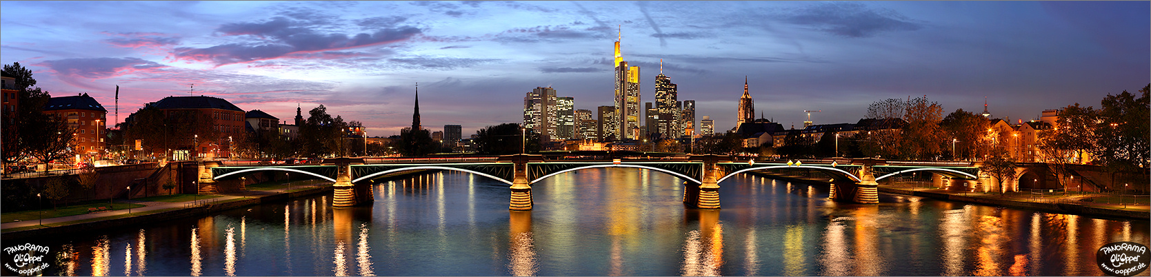 frankfurt skyline zur blauen stunde p143. Black Bedroom Furniture Sets. Home Design Ideas
