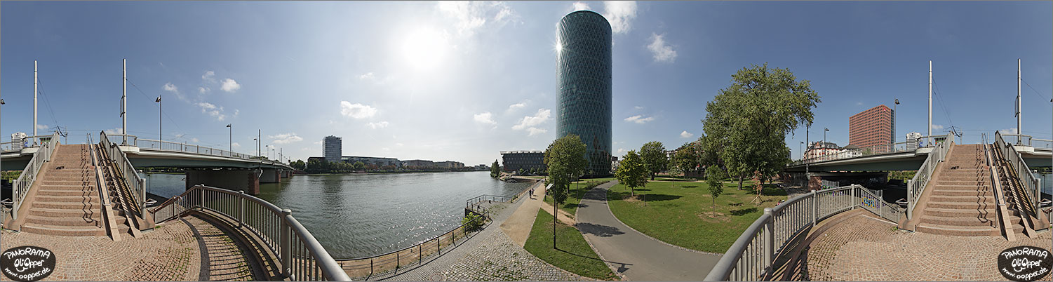 Panorama Frankfurt am Main - Westhafentower - p1119 - (c) by Oliver Opper