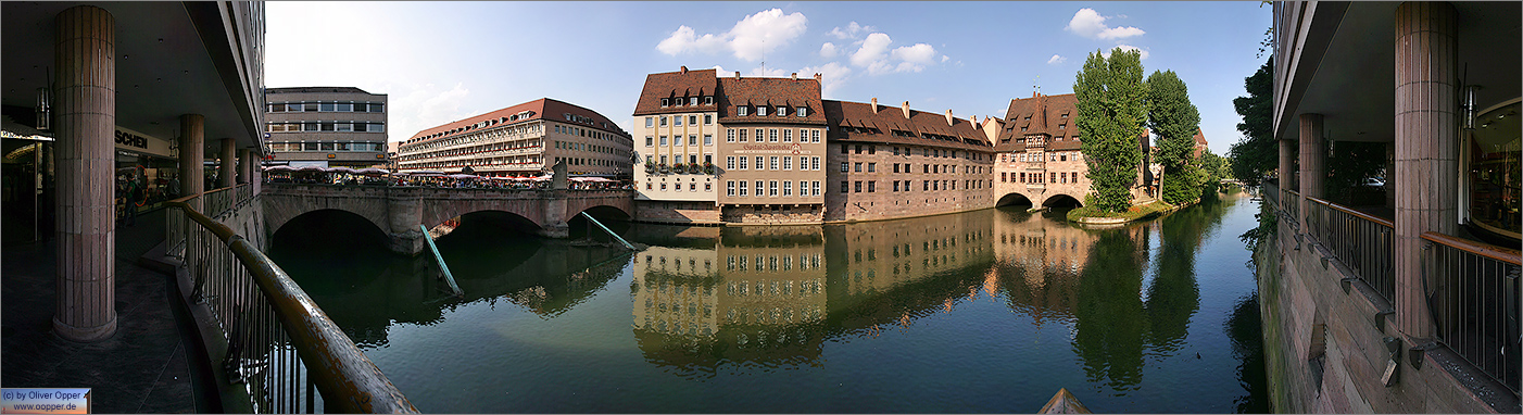 Panorama N�rnberg - Museumsbr�cke / Heilig-Geist-Spital - p017 - (c) by Oliver Opper