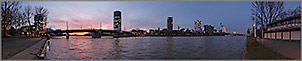 Panorama Bilder Frankfurt am Main - Sachsenh�user Mainufer - Friedensbr�cke - p239