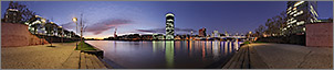 Panorama Bilder Frankfurt am Main - Sachsenh�user Mainufer - Westhafen / Westhafentower - p247