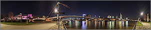 Panorama Bilder Frankfurt am Main - Sachsenh�user Mainufer - Holbeinsteg - p251