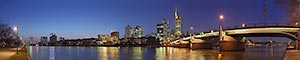 Panorama Bilder Frankfurt am Main - Mainufer - Untermainbr�cke