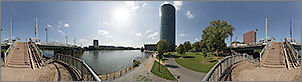 Panorama Frankfurt am Main - Westhafentower - p1119